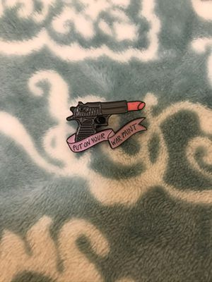 Put on your War Paint Lipstick Enamel Pin for Sale in Scottsdale, AZ