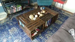Wooden Crate Coffee Table (storage!) for Sale in Austin, TX