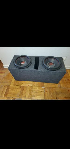 """TWO 12"""" MASSIVE AUDIO SUMMO XL 124 3000W EACH SUBWOOFER GIVING YOU 6000WATTS MAX for Sale in The Bronx, NY"""