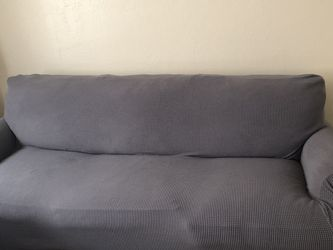 FREE Eggplant Color Sleeper Sofa With Grey Slip Cover for Sale in Lancaster,  MA