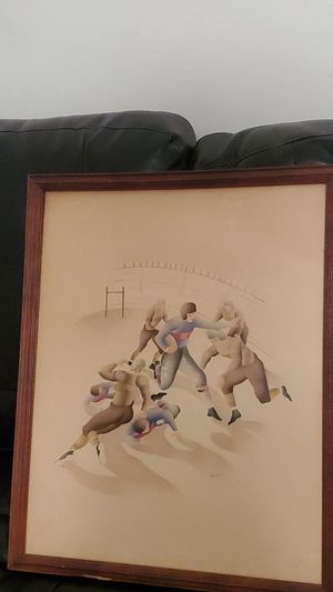 """1950 lithographs football scenes from """"Campbell"""" for Sale in Kearny, NJ"""