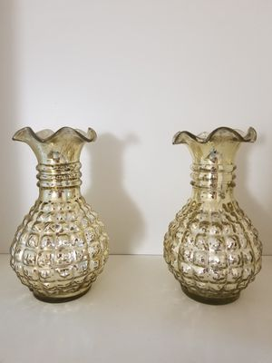 Gold colored vases for Sale in San Jose, CA
