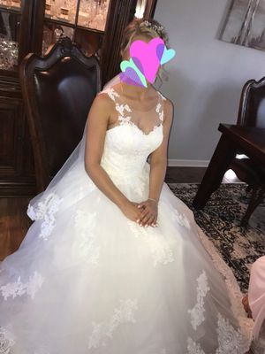 Beautiful wedding dress from Europe size s-m for Sale in Ontarioville, IL