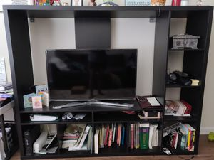 TV cabinet and book shelf with TV for Sale in Tampa, FL