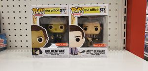 Goldenface & Andy Bernard The Office Funko Pop Bundle *MINT CONDITION BRAND NEW* Target Exclusive for Sale in Carlstadt, NJ