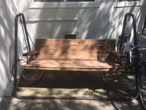 Porch swing with frame, bench swing, stand alone swing for Sale in Los Angeles, CA