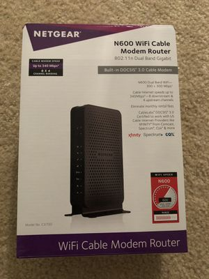 Netgear N600 WiFi Cable Modem Router for Sale in Philadelphia, PA