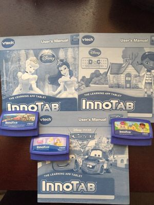 Innotab carrying case and 3 game cartridges for Sale in Roy, UT