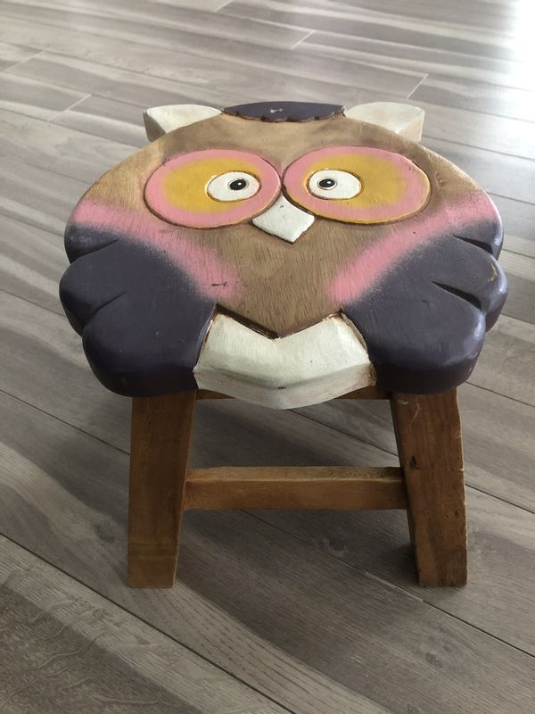 Handmade wooden stools