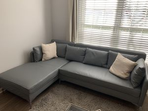 New sectional couch faux leather for Sale in Alpharetta, GA