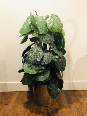 Awesome faux fiddle leaf plant for Sale in Everett, WA
