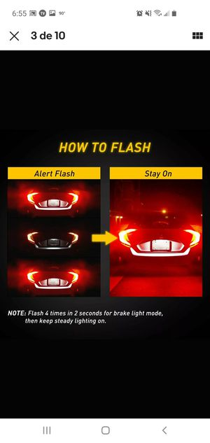 4X 7440 7443 RED Flash Strobe Blinking Brake Tail Stop Light LED Bulb For Honda for Sale in Gaithersburg, MD
