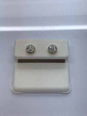 14k yellow gold diamond earrings new for Sale in Renton, WA