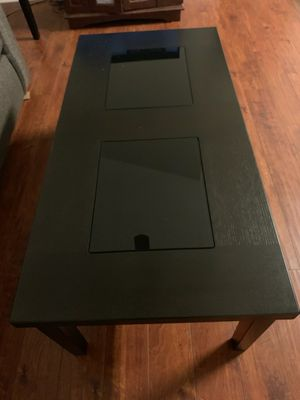 Ashley glass 2 piece black coffee table for Sale in Murfreesboro, TN