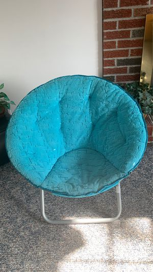 Sparkly teal round chair for Sale in Erie, PA