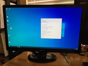 Acer S230HL 1080p monitor with power and vga cables. for Sale in Eugene, OR