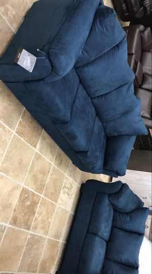 🍻New Ashley Blue Living Room Set / Couches ☆Sofa & Loveseat included ☆Chair and Ottoman sold separately💥39 DOWN PAYMENT🍻 for Sale in Houston, TX