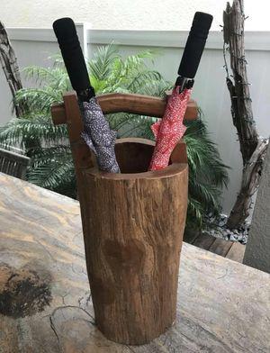 Teak wood vase outdoor patio furniture teak wood rustic for Sale in Windermere, FL