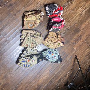 Used Tee-ball Gloves $5 Each for Sale in San Bernardino, CA