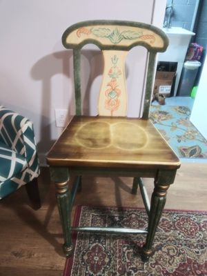 Vintage wood chair / stool for Sale in Gaithersburg, MD