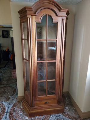 curio cabinet/ Wooden Cabinet for Sale in Ontario, CA