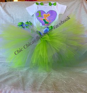 💜💚 Tinkerbell Tutu set 💚💜 for Sale in Lynn, MA