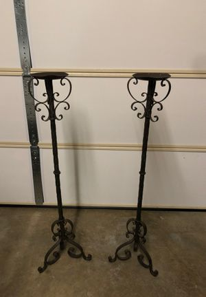 Set of 2 wrought iron candle holders for Sale in Simi Valley, CA