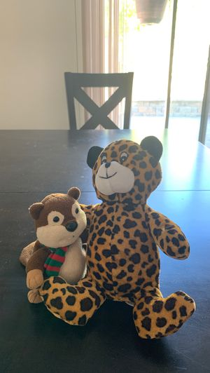 Stuffed animals - tiger and beaver for Sale in Milpitas, CA