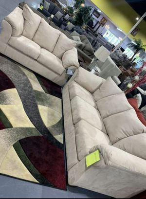 🍻New Ashley Stone Living Room Set / Couches☆Sofa & Loveseat included☆Chair and Ottoman sold separately💥39 DOWN PAYMENT🍻 for Sale in Houston, TX