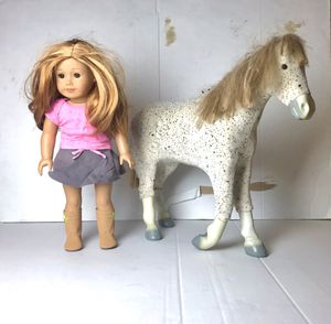 AUTHENTIC American Girl Doll Horse and Just Like You 35 (dark blonde) for Sale in Naples, FL