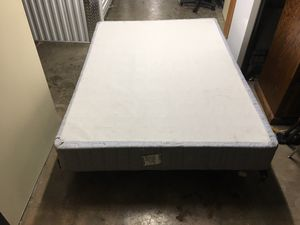 Twin metal bed frame with box spring for Sale in Denver, CO
