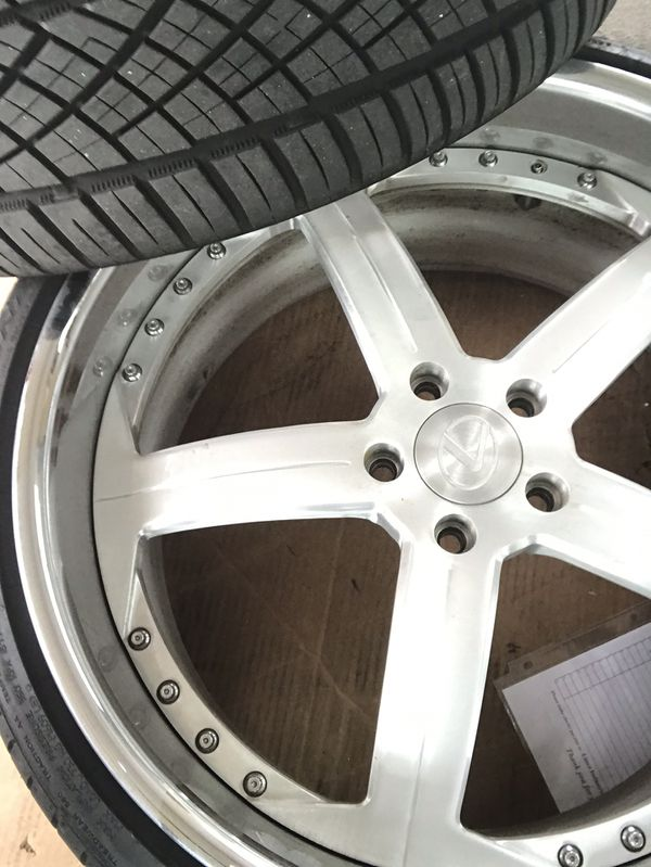 """22"""" staggered 3 pieces wheels with tires 5x120 3,000$"""