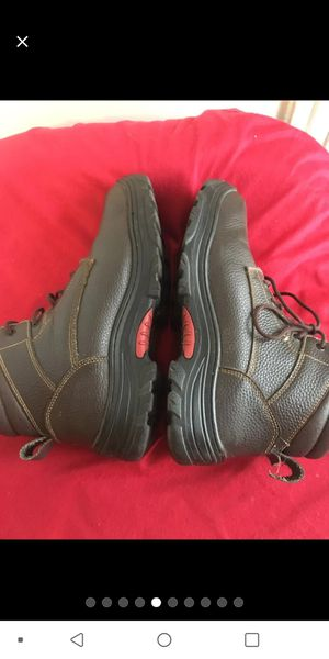 Sketchers brown work boots -steel toe / 10.5 for Sale in Albany, NY