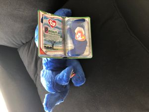 Rare beanie Baby set (PEANUT THE ROYAL BLUE ELEPHANT) for Sale in Columbus, OH