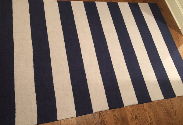 Pottery Barn Kids Rugby Navy Area Rug