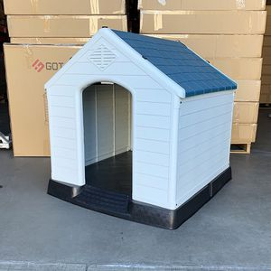 $110 (new in box) waterproof plastic dog house for large size pet indoor outdoor cage kennel 36x34x38 inches for Sale in Pico Rivera, CA