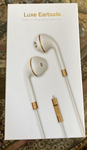 Luxe Earbuds with in-line Microphone for Sale in Sterling Heights, MI
