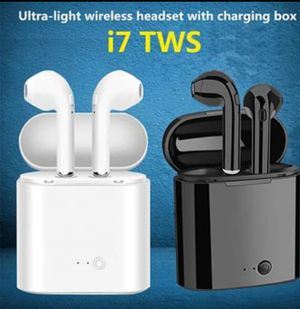 New Wireless i7 TWS earbuds, earphones compatible with iPhone and Android for Sale in High Point, NC