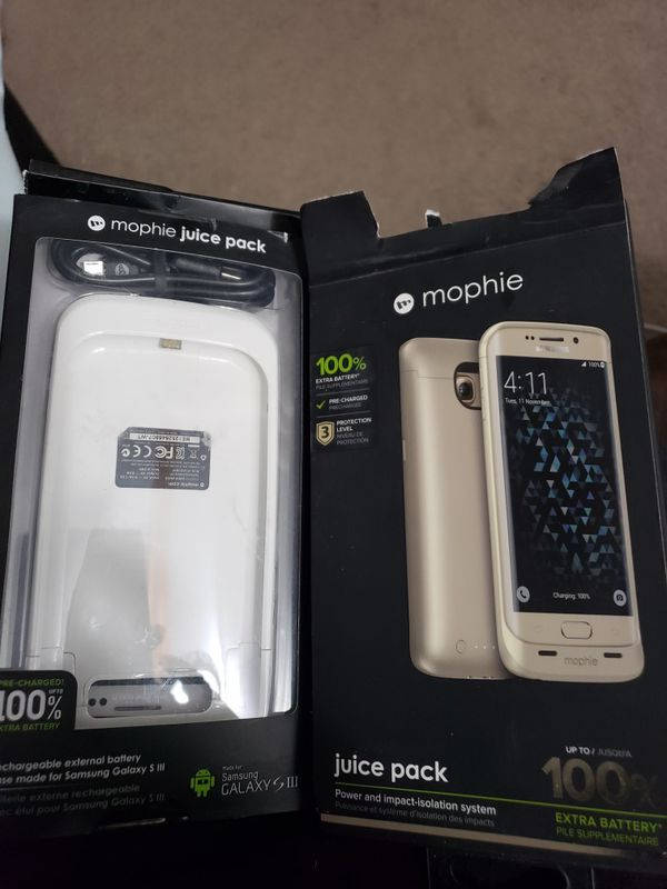 Mophie phone charge. Samsung 3 and a samsung 6. Brand new