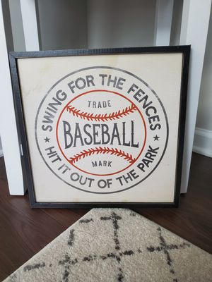 Baseball wall art for Sale in Raleigh, NC