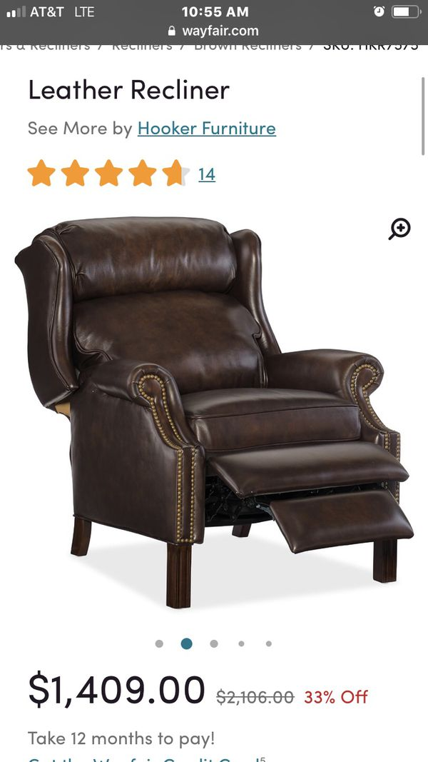 Beautiful reclinable leather chair brand Lane