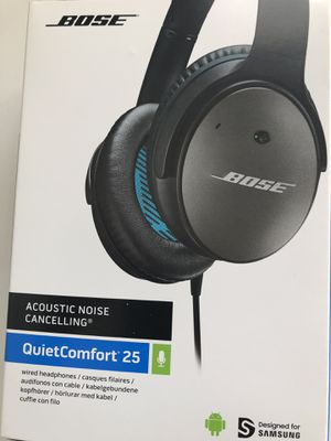 Bose noise cancelation QuietComfort 25 wired headphones for Sale in Seattle, WA