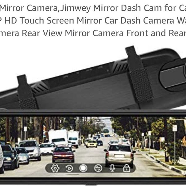 Brand New Rear View Mirror Camera,Jimwey Mirror Dash Cam for Cars 10 inch 1080P HD Touch Screen Mirror Car Dash Camera Waterproof Backup Camera Rear V