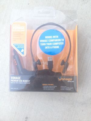 Vonage premium USB headset for Sale in Hemet, CA