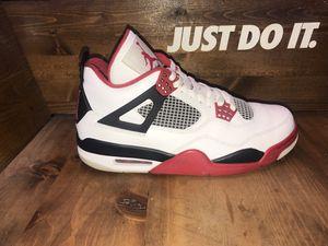 Air Jordan Retro 4's fire red for Sale in Richmond, CA