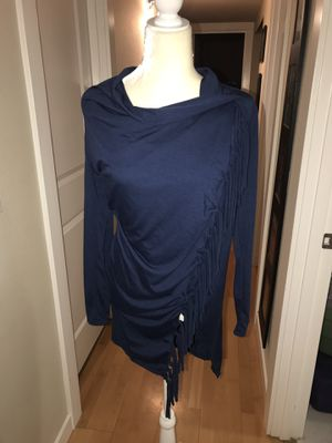 Beautiful navy blue shawl wrap sweater size small for Sale in Snohomish, WA