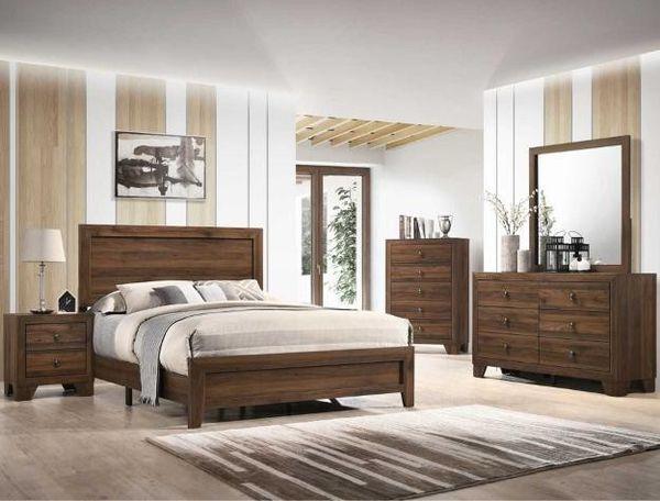 HOT DEAL] Millie Cherry Brown Yyyyouth Panel Bedroom Set