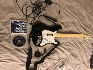Rockband PS3 Set with Game Microphone & Fender Guitar for Sale in Phoenix, AZ
