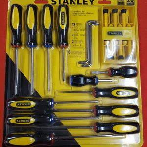 NEW Stanley 20 Piece Screwdriver Set for Sale in Fillmore, CA