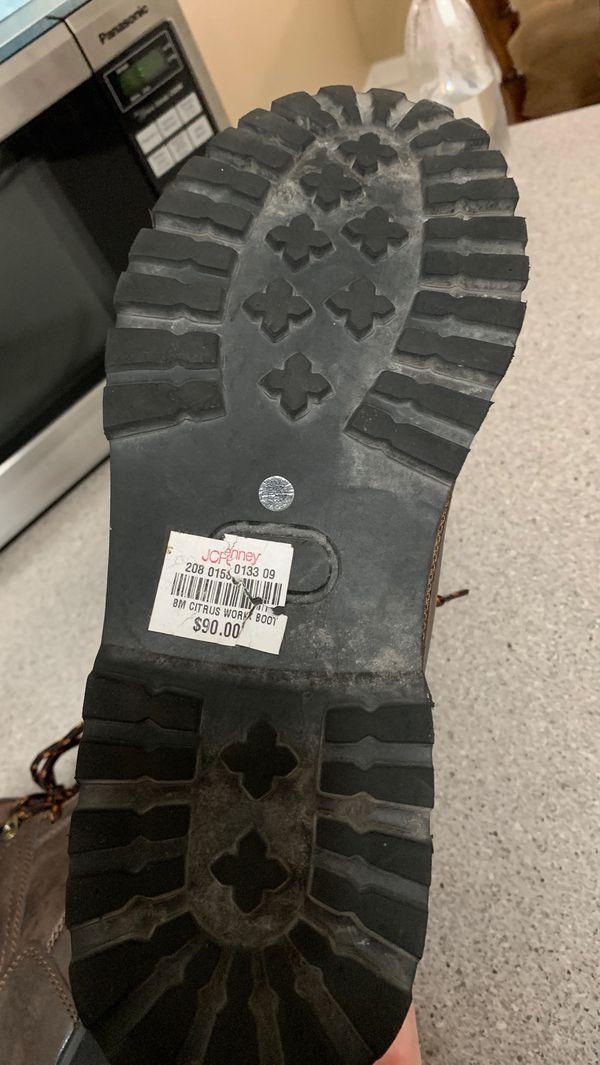 Big Mac Steel Toed Men's Work Boots - Size 11